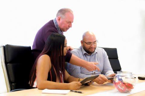 Image of AssocRICS surveyors in their APC training